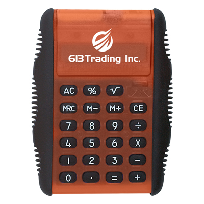 flip-calculators-imprinted-with-logo-orange