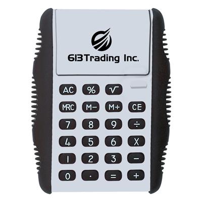 flip-calculators-imprinted-with-logo-white