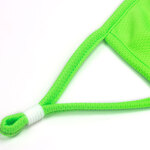 fluorescent green face mask piping