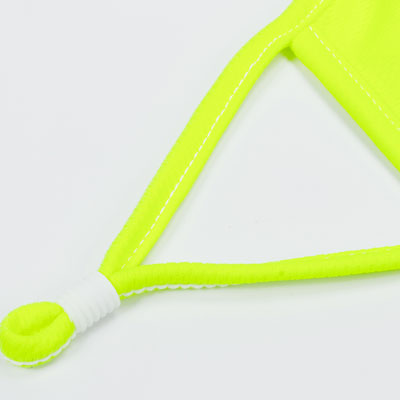 fluorescent yellow face mask piping