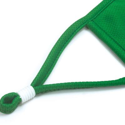 green face mask piping