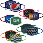 face masks printed with logo or design with color trim