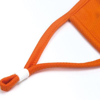 orange face mask piping