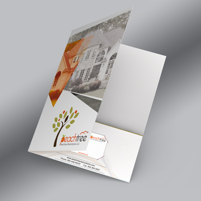 Pocket Folders Printed On Thick 16pt Card Stock With 1 Or