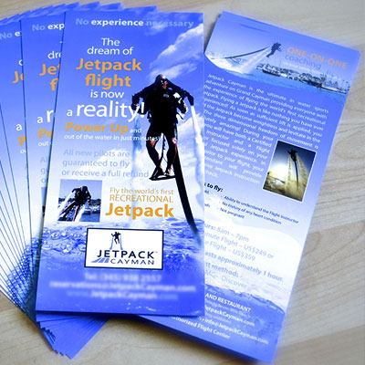 flyer printing printed in full color on thick 16pt card stock with