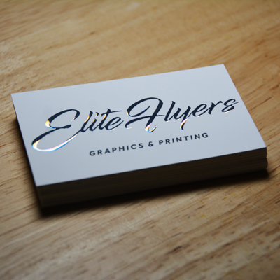 raised holographic foil business cards by elite flyers - Foil Print Business Cards