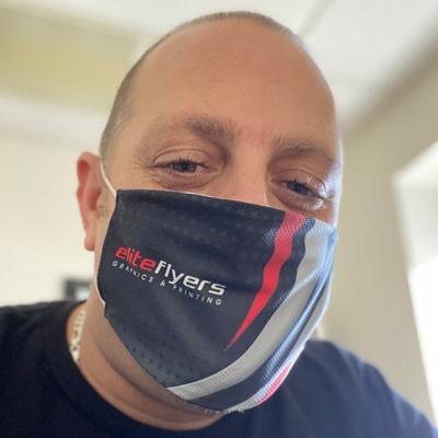 Custom printed reversible face masks