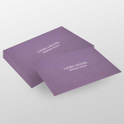 Silk Laminated Business Cards with 1 5mil Silk Laminate