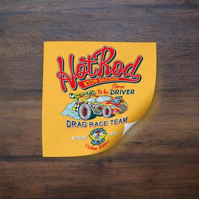 Vinyl stickers 4mil matte finish