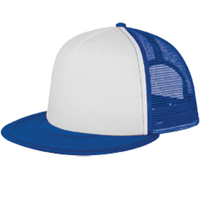 white-front-royal-blue-mesh-trucker-hats-screen-printed